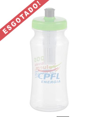 Squeeze com Filtro Promocional | Squeeze Ecológico Personalizado ele vem com um inovador filtro que garante maior pureza à água. Essa garrafa tem 600 ml