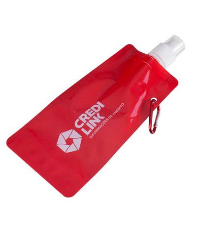 Squeeze de Plástico Flexível Personalizado | Squeeze dobrável. Personalizado e com capacidade de 480 ML.