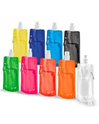 Squeeze Dobrável Promocional | Squeeze de Plástico Dobrável Personalizado. É o brinde ideal para quem pratica atividade física.